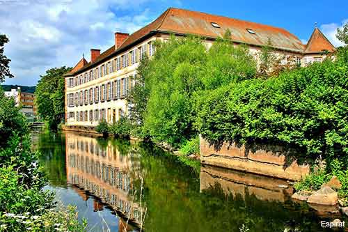 the Rohan palace in the small village of Mutzig in Alsace France