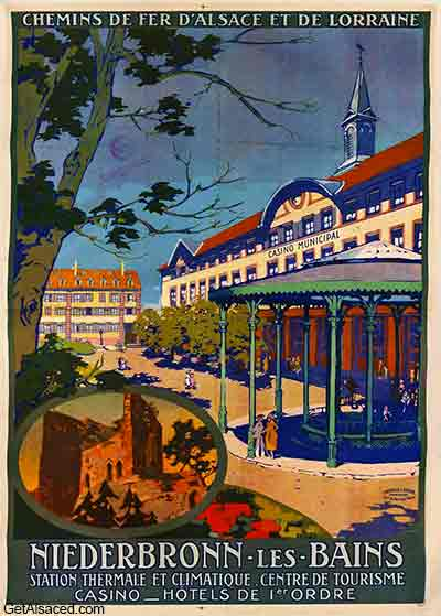 spa and casino in the small village in Niederbronn les Bains in Alsace France