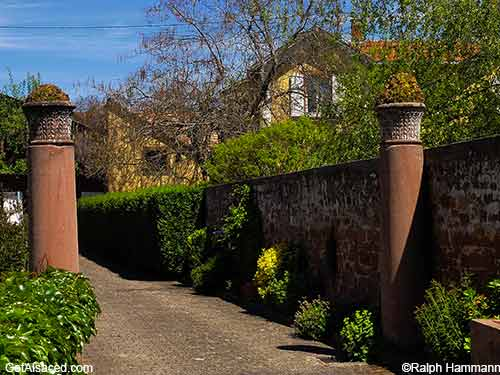 romain ruins in small Alsace village in France
