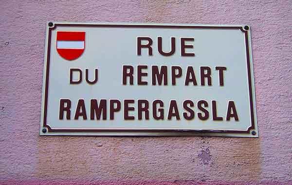 old alsatian language sign in alsace france