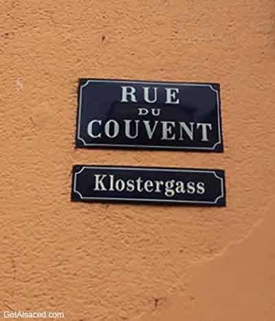 alsatian language sign in alsace france