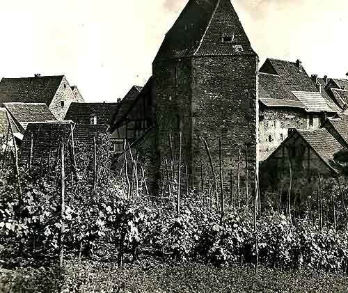 old village in alsace france