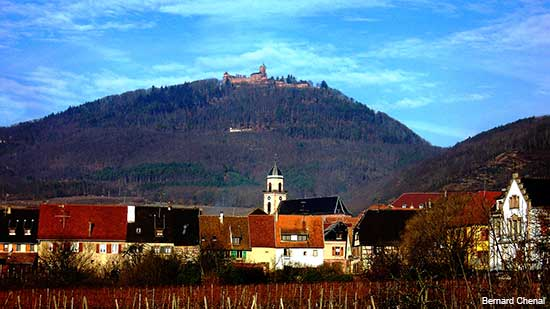 small Alsace village of Saint Hippolyte in France