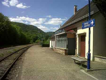 very small train station in alsace france