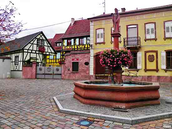 the small village of Wettolsheim in Alsace France