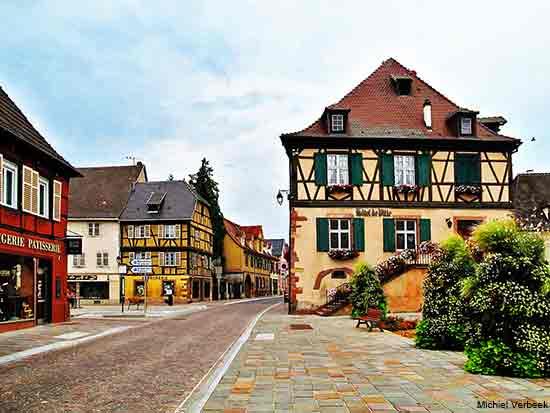 Alsace villages in Wintzenheim in France